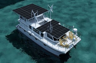 View large version of image: DSe Hybrid 12 - America's First Hybrid Yacht Using Solar - Diesel - Electric Drive