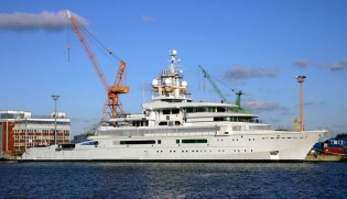 View large version of image: 115 m Explorer Motor Yacht LUNA Launched in Germany by Lloydwerft
