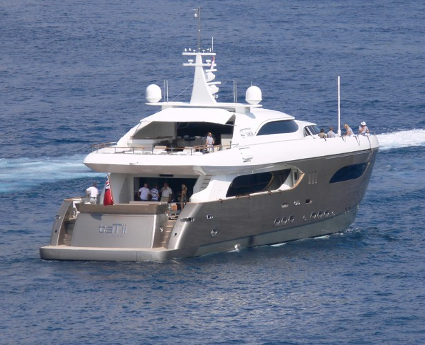View large version of image: Tamsen Motor Yacht TATii Aft at Monaco