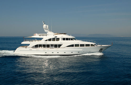 The length of the yachts ranges from the 37 metre Benetti Red Anchor to the ...