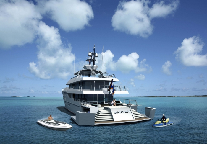 View Large Version Of Image Motor Yacht BIG FISH By McMullen Wing Gregory