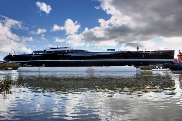 View large version of image: Image of KOKOMO Leaving the Yard - by Alloy Yachts
