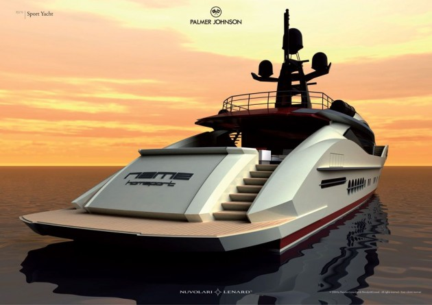 View large version of image: The PJ 170 Superyacht Aft View Design