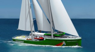 View large version of image: Rondal To Harness Wind Power on Greenpeace's Rainbow Warrior III