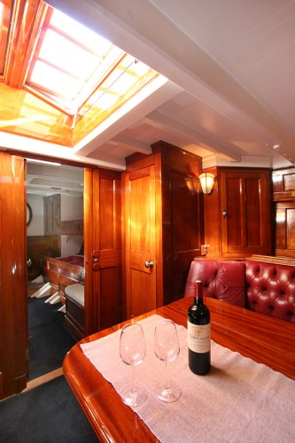 View large version of image: Classic sailing yacht charter: SY Halloween
