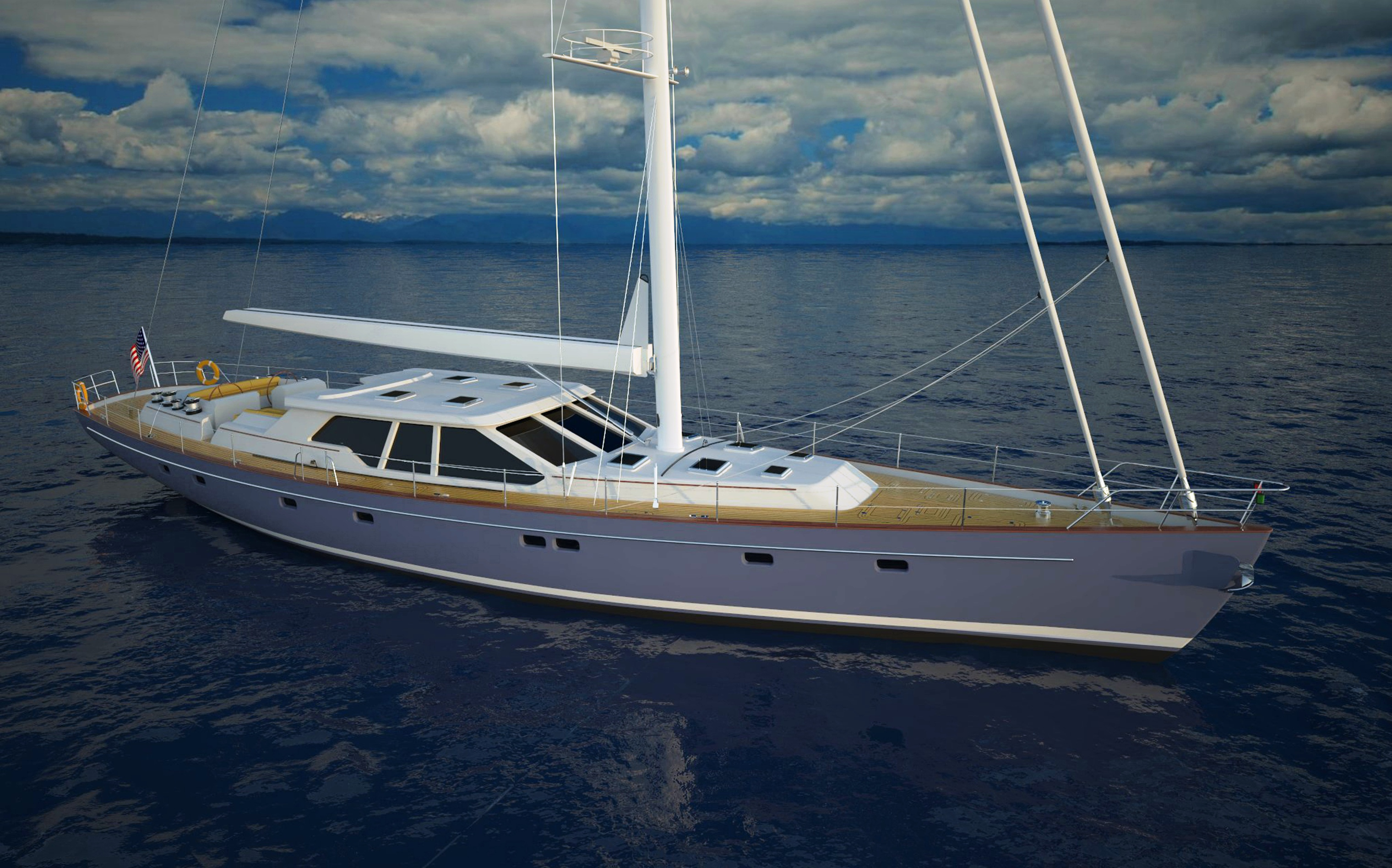View large version of image: Bill Prince Yacht Design 28m Centerboard ...