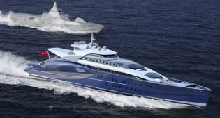 View large version of image: The Blohm + Voss 110m Fast Luxury Motor Yacht