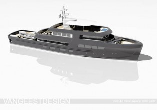View large version of image: The New 42 meter VGD Explorer by Van Geest Design