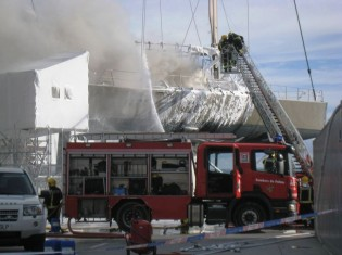 View large version of image: Wally Sailing Yacht Tiketitan 88 Explosion & Fire