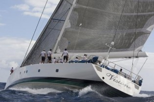 View large version of image: Sailing Yacht Visione Wins Antigua Superyacht Cup with Sojana Second