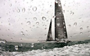 View large version of image: 33rd America's Cup: Training in racing mode