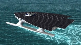 View large version of image: An Eco-friendly Solar Yacht Set For a Voyage Around the World