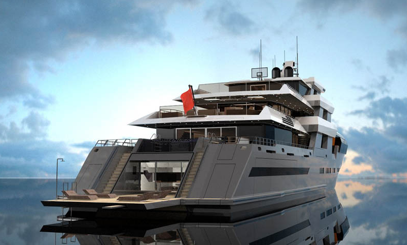 View large version of image: COMMANDER 68 Mega Yacht - a new design by Egg