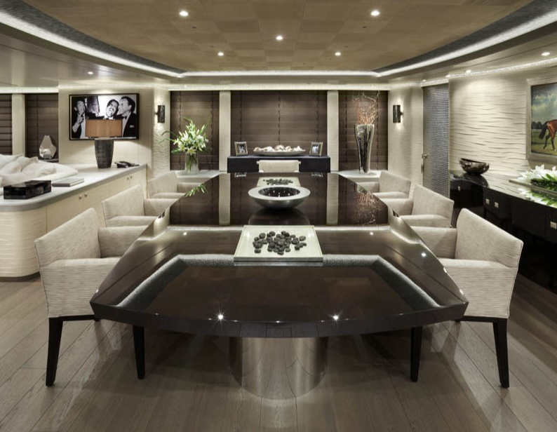 Amazing Dining Rooms Of Hurricane Run Superyacht Interior Superyachts News