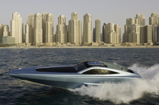 View large version of image: XSMG Marine shows - Luxury Power Boat XSR 48 at the Dubai International Boat Show