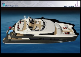 View large version of image: BMT NIGEL GEE AND DESIGN UNLIMITED ANNOUNCE THEIR 40M LUXURY CATAMARAN