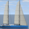 Oiseau Bleu - a new Sailing Yacht Concept from Sylvian Viau of SV Design