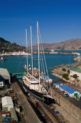 View large version of image: Sailing Yacht Eos arrives in New Zealand