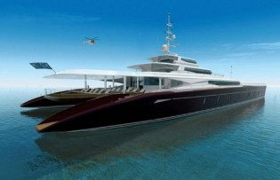 View large version of image: The New 62 m Giant Green Catamaran Concept : Event Cat