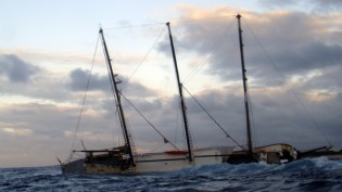 View large version of image: Schooner Sailing Yacht Alta Hits reef and sinks off Galapagos Islands