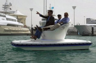 View large version of image: The Sofa Boat - An Eco-Friendly Electric Boat