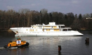 View large version of image: 74m Superyacht Mogambo Hull 782 Launched by Nobiskrug Yachts Of Germany