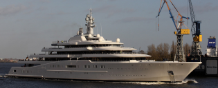 View large version of image: Superyacht ECLIPSE - is near her completion & will be heading to the 2010 FIFA World Cup Football