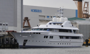 View large version of image: Jamaica Bay super yacht is currently undergoing sea trials …