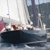 2009 winner Meteor seen here Trailing The Perini Navi Barracuda in the 15th annual St. Barths Bucket Regatta 2010.