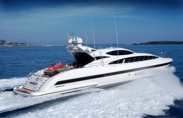 View large version of image: Motor yacht Mangusta 105 Sealyon has been sold by Merle Wood