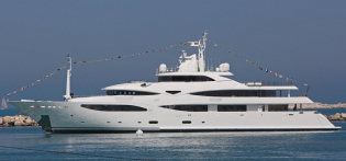 View large version of image: SuperYacht Mimtee launched by CRN