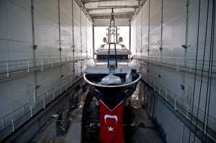 View large version of image: 58.2m Motor Yacht Baraka Launched by Proteksan Turquoise