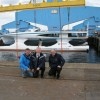 Green Yacht PlanetSolar is launched in the Baltic Sea, Germany.