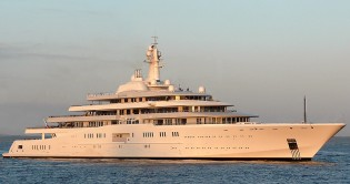 View large version of image: Yacht ECLIPSE to NORWAY for Sea Trails before Delivery to Roman Abramovich