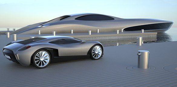 View large version of image: Super yacht Concept Strand Craft 122
