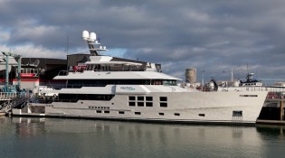 View large version of image: Super yacht Big Fish Completes Sea Trials
