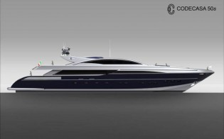 View large version of image: Codecasa 50s yacht - a luxury open style super yacht design