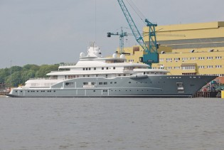 View large version of image: Lurssen's 110 m Motor Yacht Radiant  to be in Norway for Sea Trials