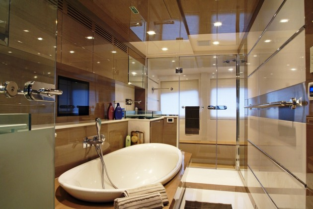 View large version of image: Yacht NOOR - Master Ensuite Interior Design by Hot Lab