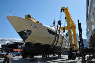 View large version of image: Yacht Anastasia M launched by Sanlorenzo
