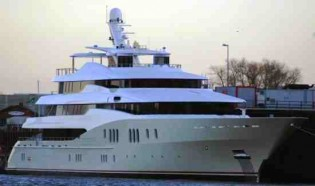 View large version of image: Superyacht Titan at 78 metres launched by Abeking & Rasmussen in Germany today