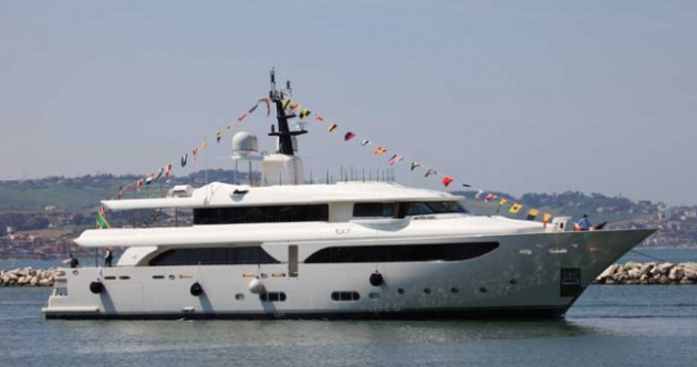 View large version of image: SuperYacht KATE launched  by CRN