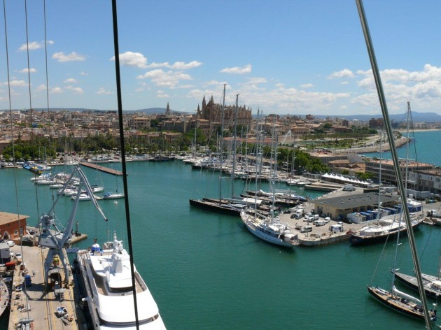 View large version of image: The Palma Superyacht Cup Village is filling up