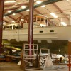 Yacht Sirene being refitted at Van Dam Nordia