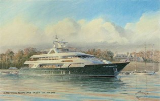 View large version of image: Burger Boart Company launches the tri-deck mega yacht Sea Owl