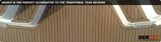 View large version of image: New Dekkit Synthetic Teak Decking System
