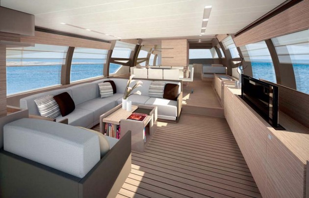 View large version of image: Ferretti 720 motoryacht interior