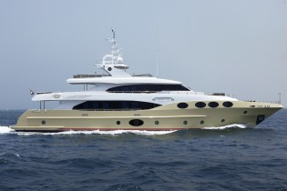 View large version of image: Majesty 125 Superyacht launched