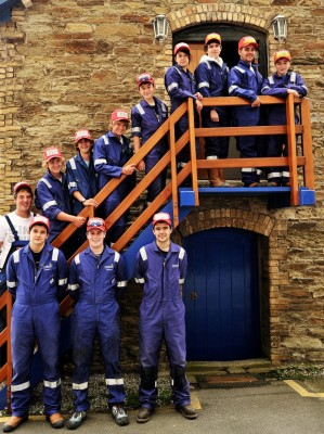 View large version of image: Twelve apprentices start the four year Pendennis Award Winnin Course