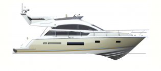 View large version of image: Fariline Squadron 42 unveiled for the first time at Cannes Internationa Boat Show